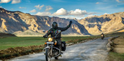two persons riding bike to ladakh