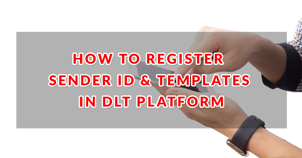 how to register sender id templates in dlt platform