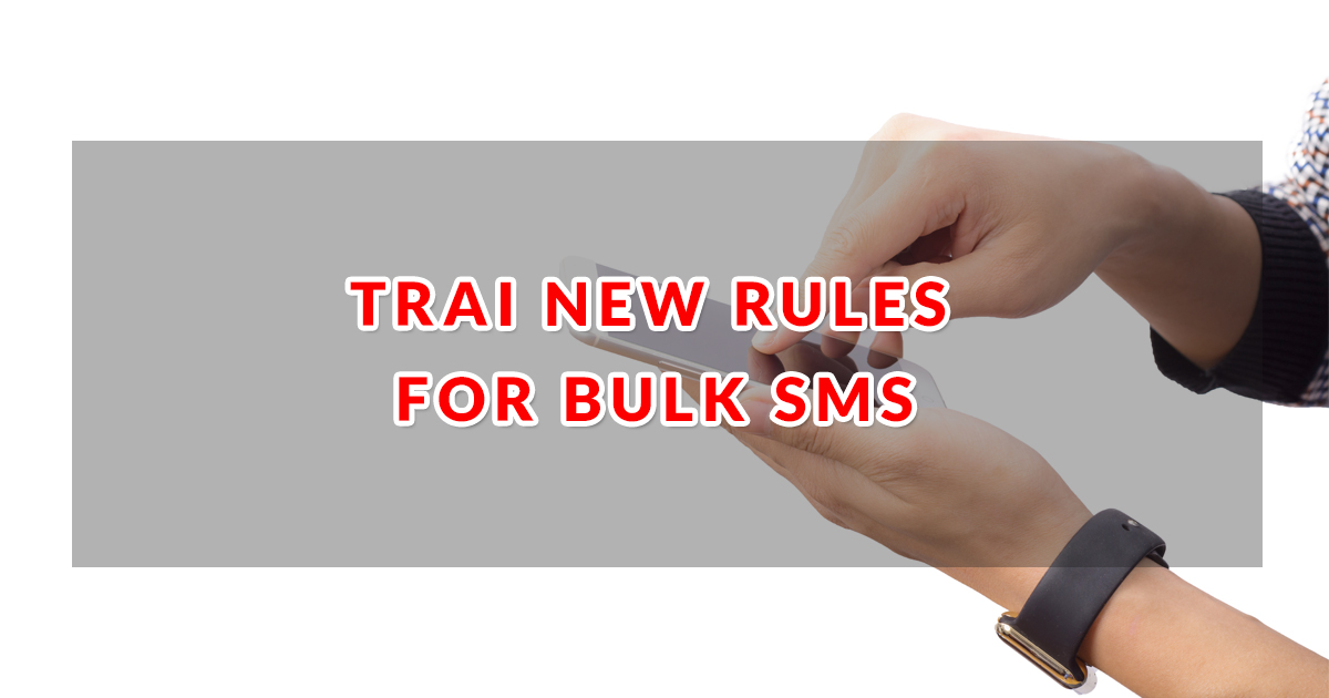 trai new rules for bulksms